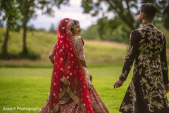 indian groom sherwani,indian bride,outdoor photography