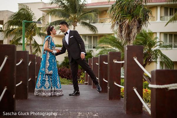 indian destination wedding,indian bride,indian fusion wedding reception