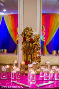 indian sangeet,floating candles decor