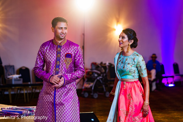 indian sangeet,purple sherwani