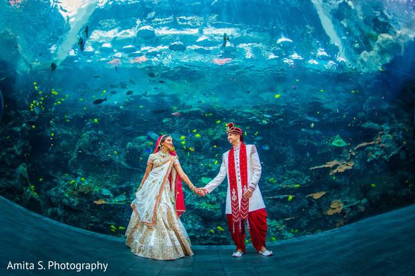 indian wedding portrait,indian wedding couple