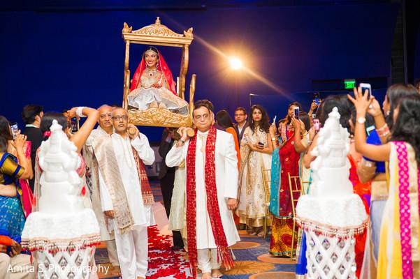 indian bride,wedding entrance