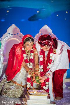 Indian couple around Havan Kund