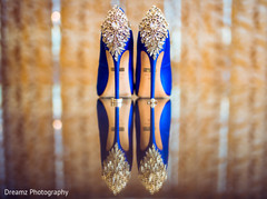 Amazing blue heels with jewelry