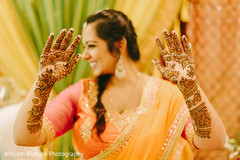 Bride at mehndi ceremony
