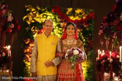 Sweet indian bride walking towards her new life.