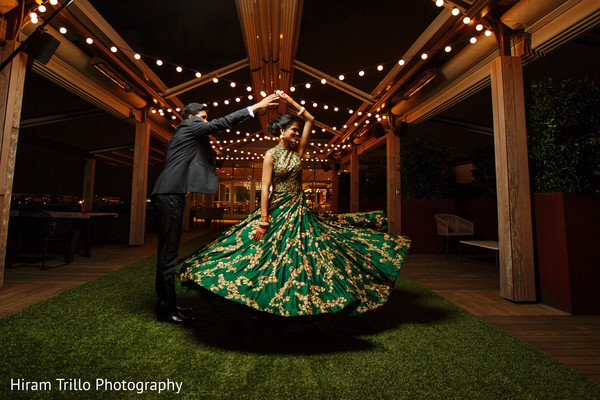 Dreamy indian bride and groom portrait. in Dallas, TX Indian Wedding by Hiram Trillo Art Photography