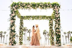 outdoor photography,flower mandap,indian wedding ceremony photography