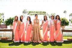 indian bridesmaids' fashion,indian bride ceremony fashion,outdoor photography
