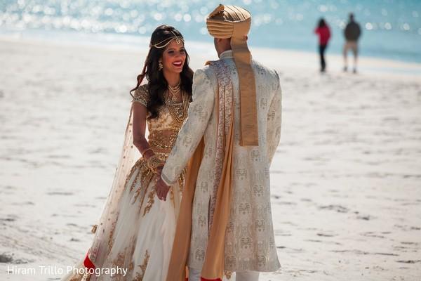 indian destination wedding,indian wedding first look