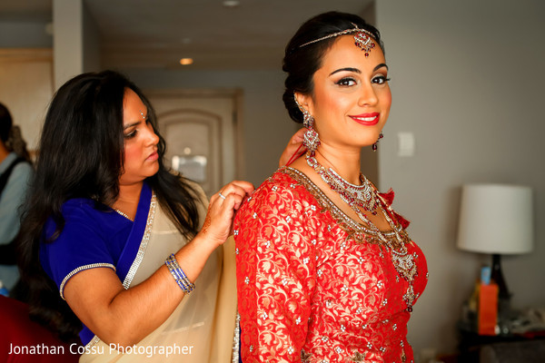 Gorgeous indian bridal style. in Cancun, Mexico Indian Wedding by Jonathan Cossu Photographer