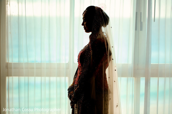 Indian bride pre-wedding photography. in Cancun, Mexico Indian Wedding by Jonathan Cossu Photographer